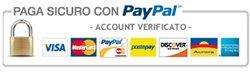 Pagamento sicuro al 100%. Non è obbligatorio l'account PayPal, possibile pagare con carta di credito o carta prepagata.