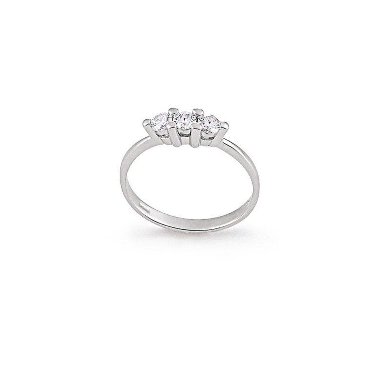 Anello Trilogy Donna Artlinea Oro Bianco e Diamanti - AD070-LB