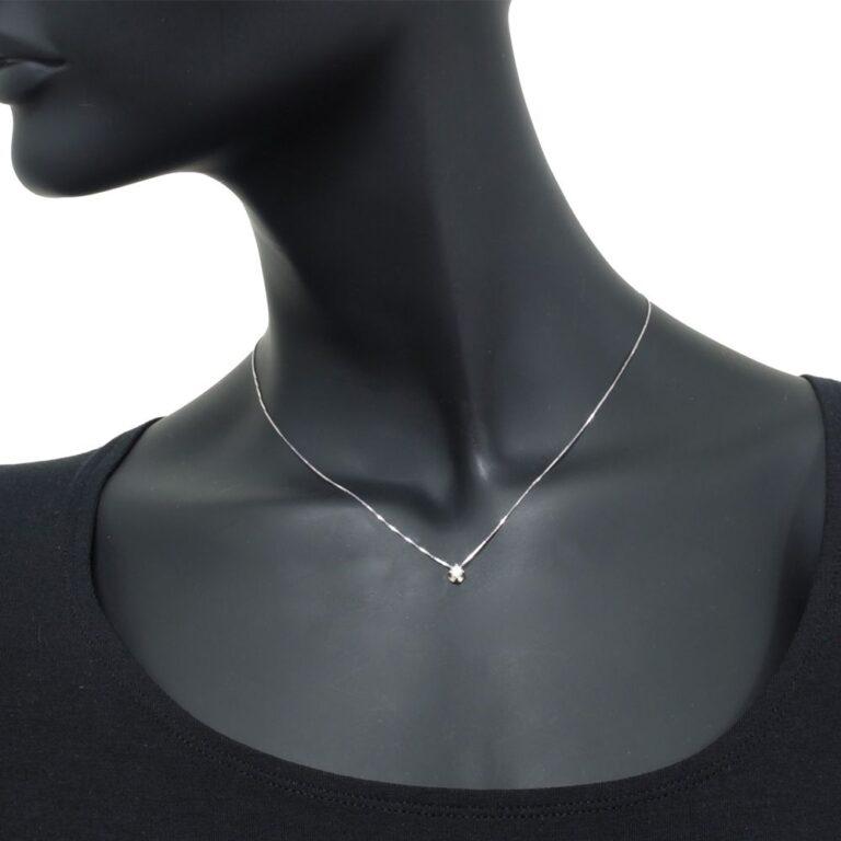 Collana Punto Luce Artlinea in Oro Bianco con Diamante - CD067-LB