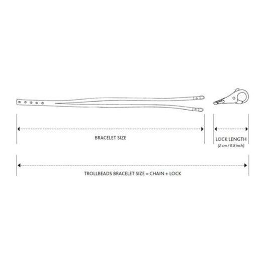 Bracciale/Collana Trollbeads in Cuoio Magenta e Verde Salvia - TLEBR-00067