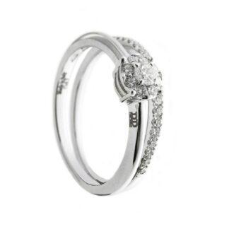 Anello Davite & Delucchi in Oro Bianco con Diamanti - AA030608OS