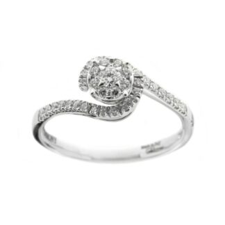 Anello Davite & Delucchi in Oro Bianco con Diamanti - AA030609OS