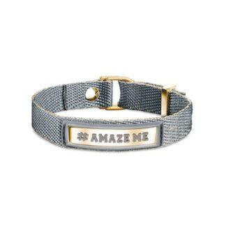 Bracciale #AMAZE ME Nomination Cotone Poliuretano e Acciaio - #ME - 131001/013
