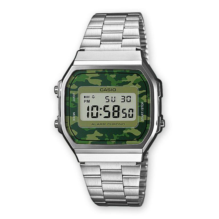 Orologio Digitale Casio Camouflage Unisex Acciaio – A168WEC