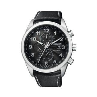 Orologio Cronografo Citizen Uomo Acciaio Pelle AT8011-04E