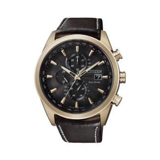 Orologio Cronografo Citizen Uomo Acciaio Pelle AT8019-02W