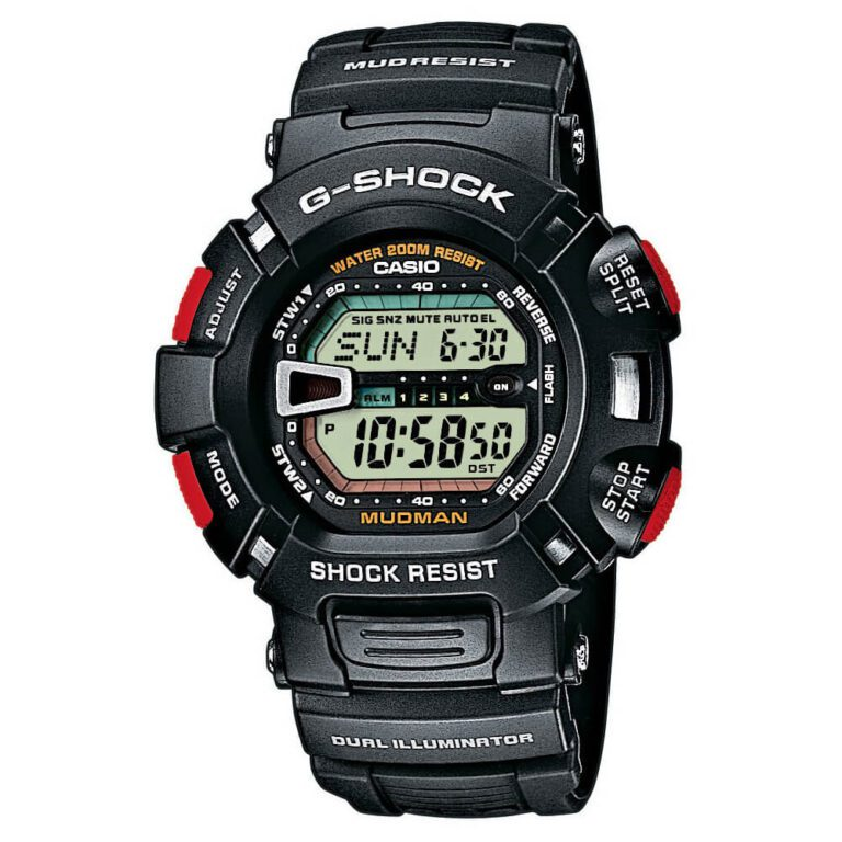 Orologio Cronografo Casio G-Shock da Uomo in Resina - Mudmaster - G-9000-1VER