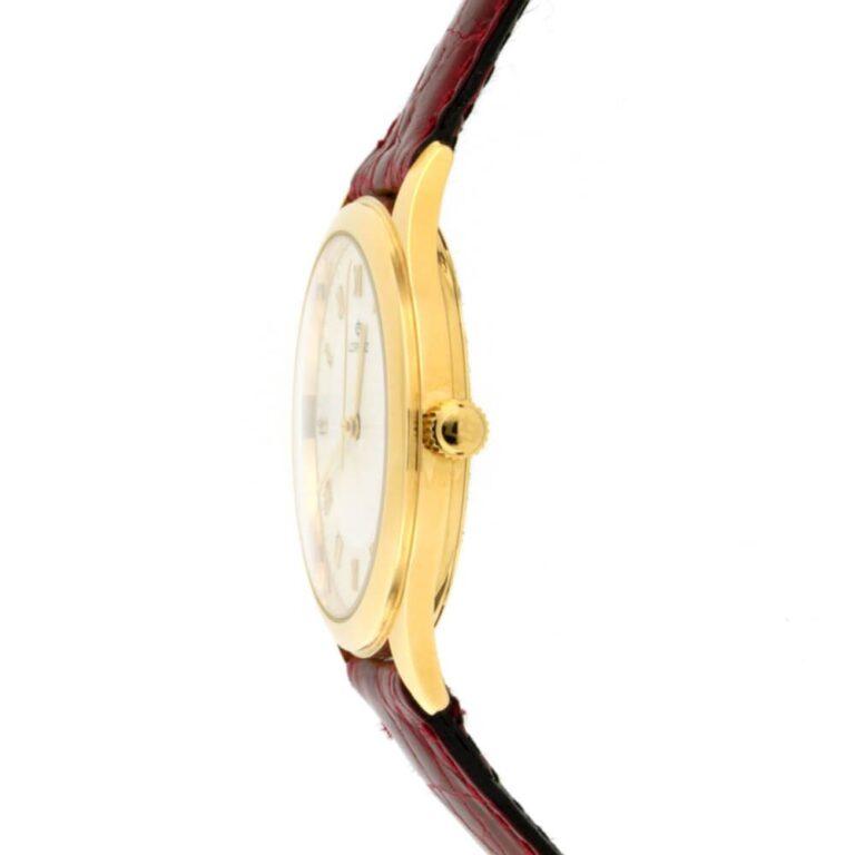 Orologio Solo Tempo Lorenz in Oro Giallo e Pelle - 022024BL