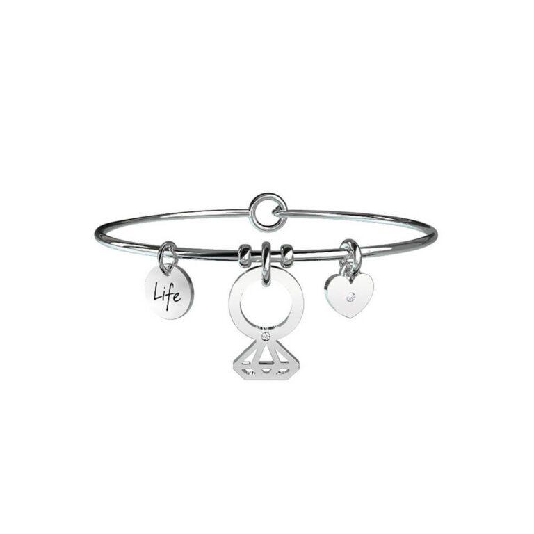 Bracciale Donna Kidult in Acciaio con Cristalli SolitarioPromessa - Love - 231576