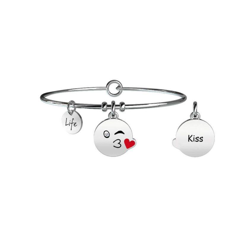Bracciale Donna Kidult in Acciaio Kiss - Symbols - 231676