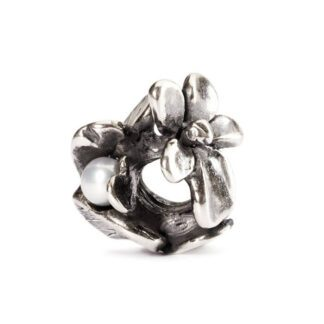 Beads Trollbeads Viola di Febbraio in Argento con Perla - 51739