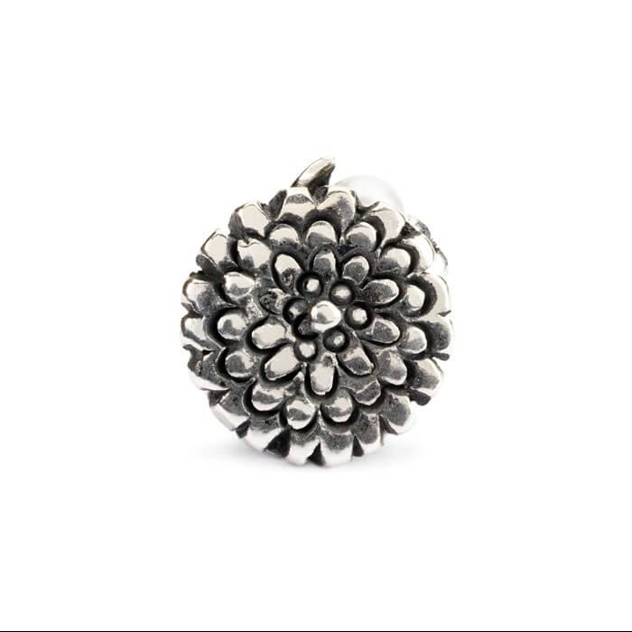 Beads Trollbeads Calendula di Ottobre in Argento con Perla - 51747
