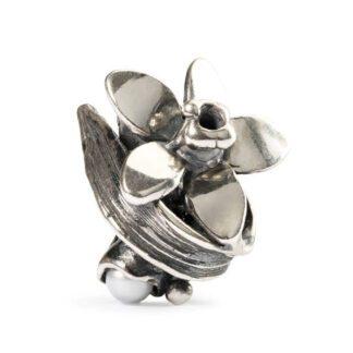 Beads Trollbeads Narciso di Dicembre in Argento con Perla - 51749
