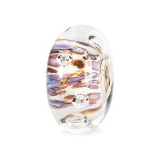 Beads Trollbeads Cresta di Bolle Viola in Argento e Vetro di Murano - 61482