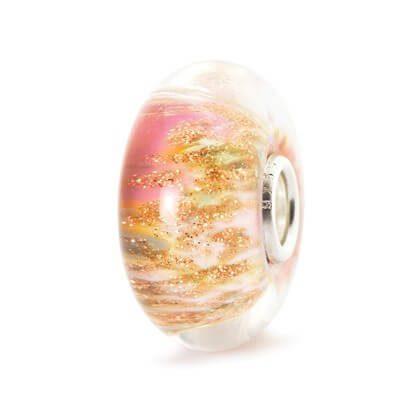 Beads Trollbeads Rosa del Deserto in Argento e Vetro di Murano - 61488