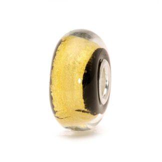 Bead Trollbeads Oro Nero in Vetro di Murano e Argento - 62015