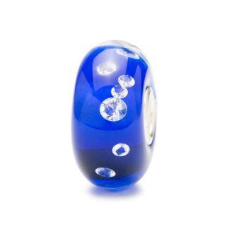 Bead Trollbeads Diamante Blu in Argento Zirconi e Vetro di Murano - 81007