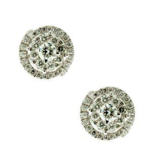 Orecchini Davite & Delucchi Donna Oro Bianco Diamanti - BB008869OS