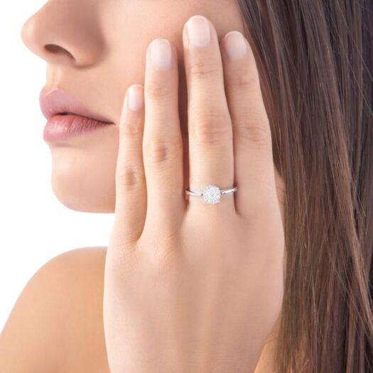Anello Solitario Roberto Giannotti in Oro e Diamanti - La Luce degli Angeli - LUX06