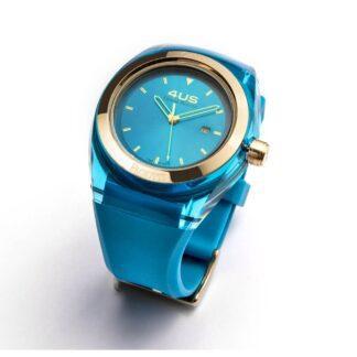 Orologio 4US Solo Tempo Acciaio Resina Silicone Crystal Light Blu -T4CY127