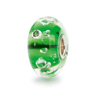 Bead Trollbeads Diamante Verde in Vetro di Murano e Argento – TGLBE-00075