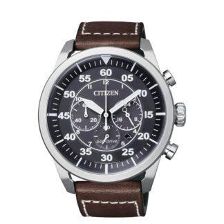 Orologio Citizen Cronografo in Acciaio e Pelle - CA4210-16E