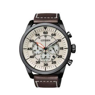 Orologio Citizen Cronografo in Acciaio e Pelle - CA4215-04W