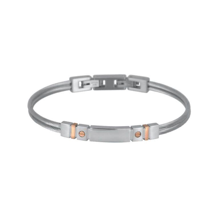 Bracciale 2Jewels Wire Uomo Rosè - 231831