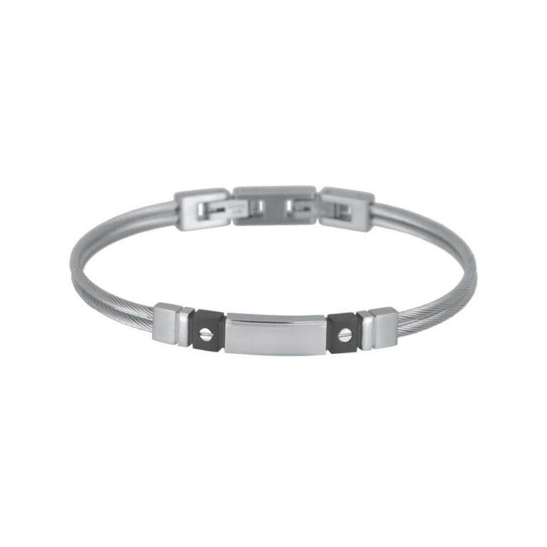 Bracciale 2Jewels Wire Uomo Nero - 231832