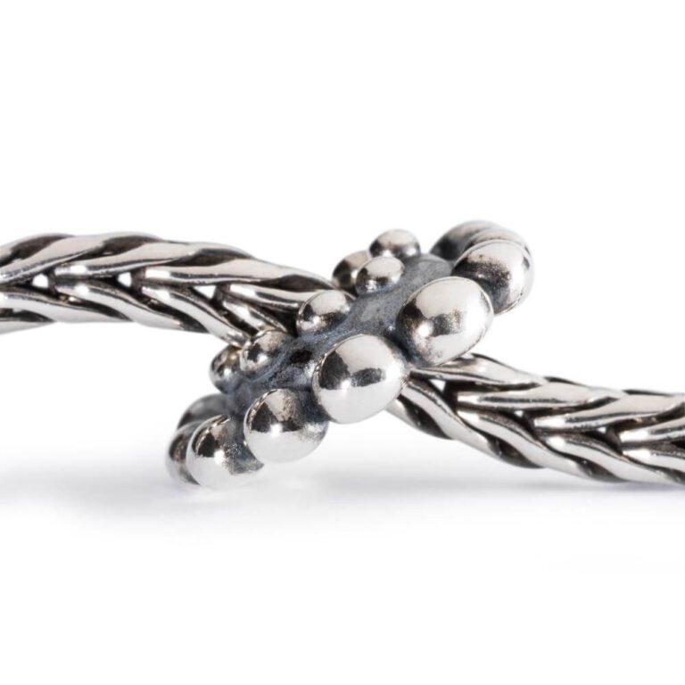 Bead Trollbeads Argento Petali Loto - TAGBE-10035 bracciale