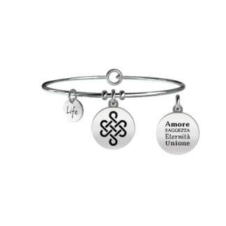 Bracciale Donna Kidult in Acciaio con Cristallo Nodo Infinito  Unione - Symbols - 731065