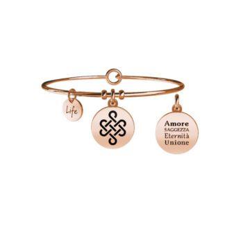 Bracciale Donna Kidult in Acciaio Rosè con Cristallo Nodo Infinito  Unione - Symbols - 731066