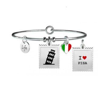 Bracciale Donna Kidult in Acciaio e Smalto  Pisa - Free Time - 731234