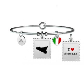 Bracciale Donna Kidult in Acciaio e Smalto  Sicilia - Free Time - 731238