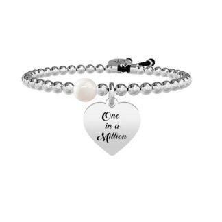 Bracciale Donna Kidult in Acciaio e Perla Cuore  One in a Million - Love - 731261