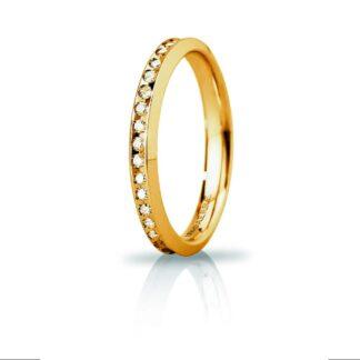 Fede Anniversario Slim Unoaerre Oro Diamanti