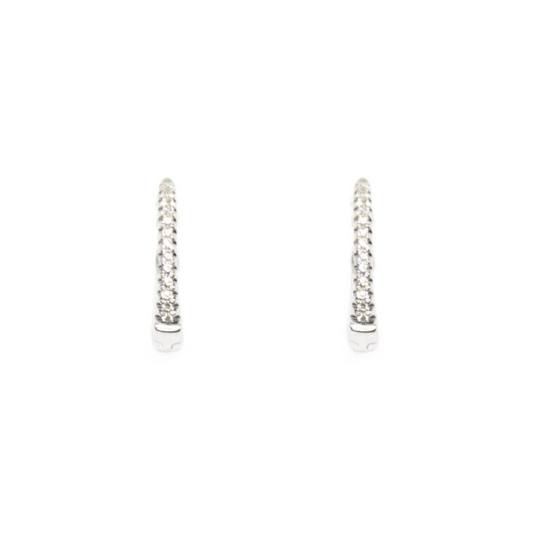 Orecchini in Oro Bianco e Diamanti -1572210