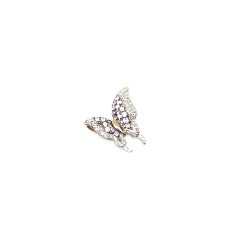 Ciondolo Linea Blu in Oro Rosa con Diamanti e Zaffiri Rosa - 20918278F