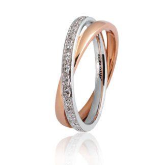 Fede Unoaerre Oro Bicolore Diamanti