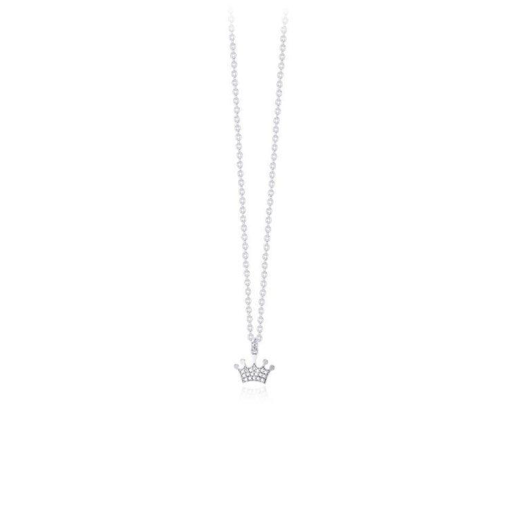 Collana Mabina Argento Ciondolo forma Corona - 553250