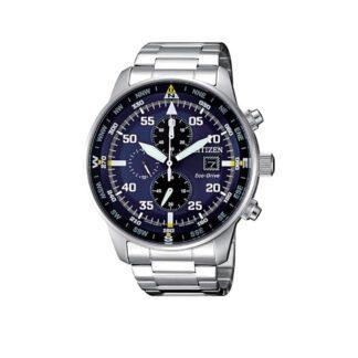 Orologio Citizen Acciaio Uomo Cronografo Eco Drive - Aviator- CA0690-88L