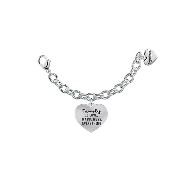 Elemento singolo 2Jewels Together - Acciaio Cuore Ciondolo Family is Love, Happiness, Everything 131059