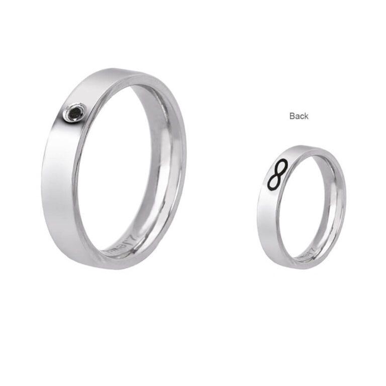 Anello 2Jewels Acciaio Cristallo Nero Infinito - Love Rings - 221069