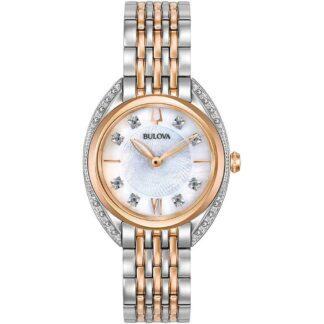 Orologio Bulova Donna Acciaio Bicolore Diamanti - Diamonds - 98R270