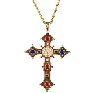 Collana Isola Bella Argento Dorato Croce di San Benedetto - 20000844