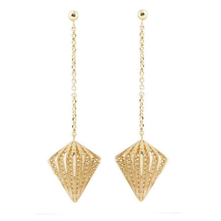Orecchini Artlinea in Oro Giallo Diamante - Glam - OE4088-LG