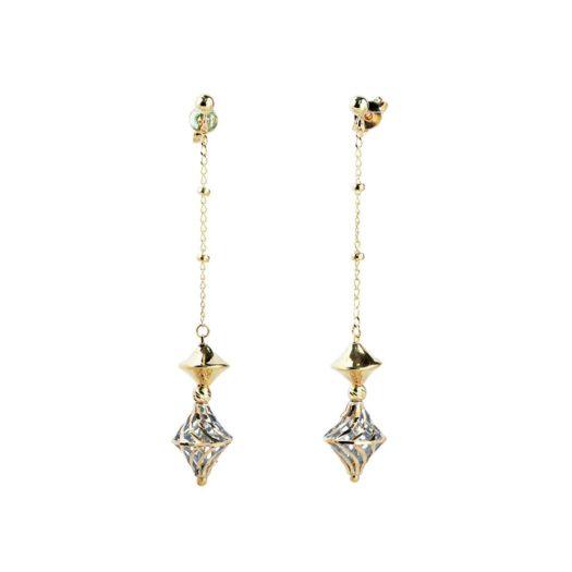 Orecchini Artlinea in Oro Giallo e Bianco Rombi - Glam - OE4855-LN