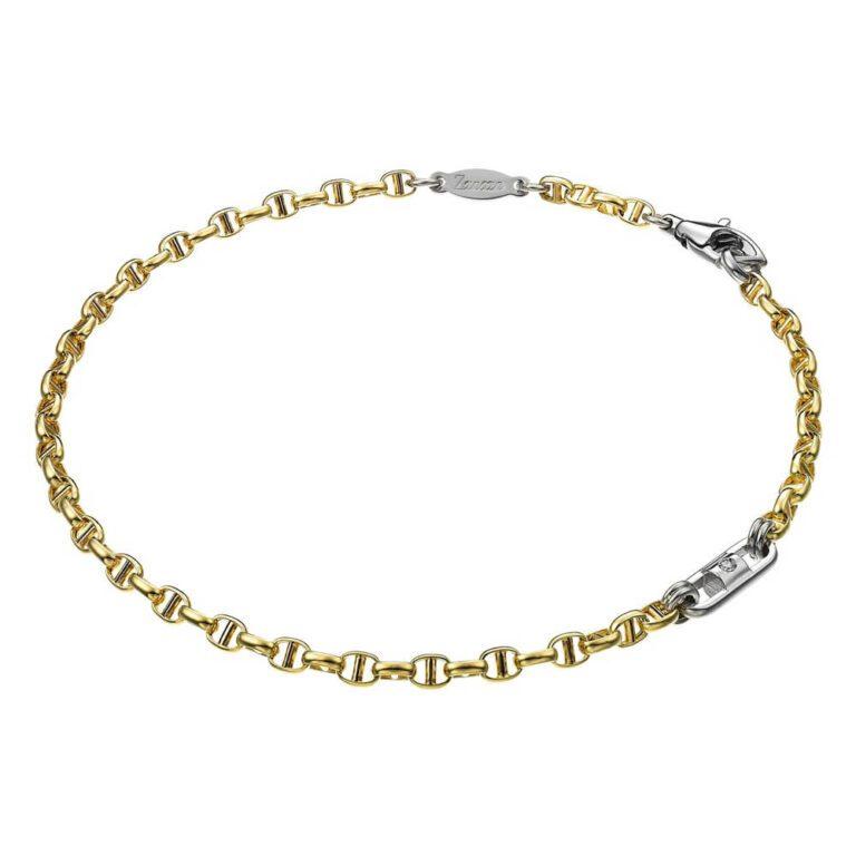Bracciale Zancan in Oro Giallo e Bianco con Diamante - Insignia Gold - EB546BG