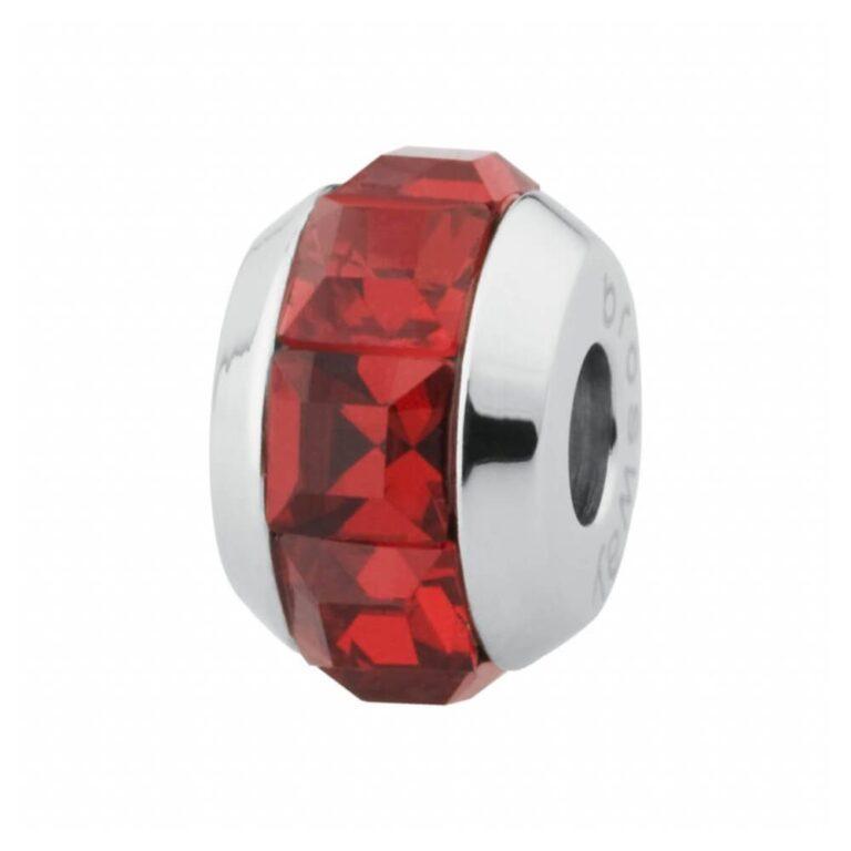 Charm Mini Brosway in Acciaio con Swarovski Rosso - Très Jolie - BTJM10