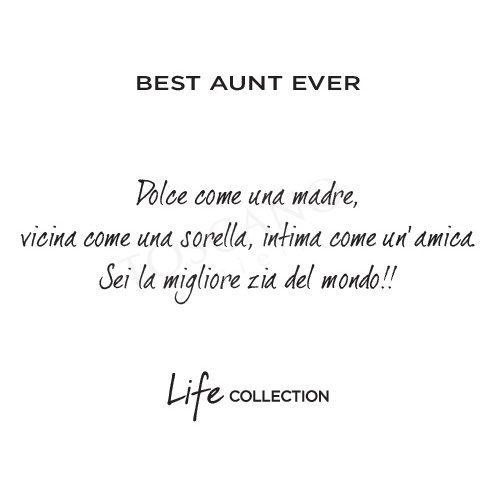 Collana Kidult in Acciaio e Smalti  Best Aunt Ever – Family – 751083